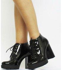ankle boot carrie verniz feminino