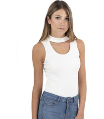 body escote con choker flashy