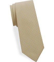 two-tone diagonal woven silk tie