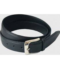 cinturón clásico de cuero negro trauko