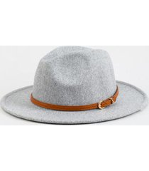 claudia heathered wool panama hat in light gray - light gray