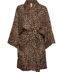 leonora kimono morgonrock brun underprotection