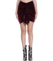 alexandre vauthier skirt in bordeaux polyester