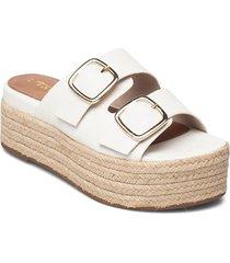 woms slides sandalette med klack espadrilles rosa tamaris