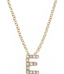 women's bony levy 18k gold pave diamond initial pendant necklace (nordstrom exclusive)