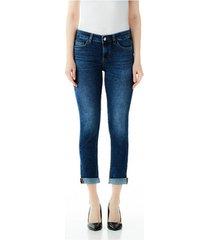 7/8 jeans liu jo blue denim bottom up monroe reg.w.