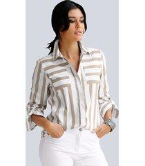 blouse alba moda wit::taupe
