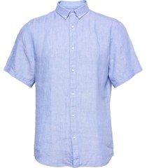 bs chiba kortärmad skjorta blå bruun & stengade