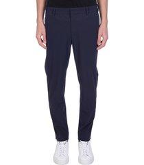 pt01 pants in blue polyamide