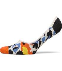 leopard liner sock ankelstrumpor korta strumpor vit happy socks