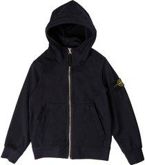 stone island bluette hooded jacket