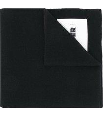 jil sander logo-patch scarf - black