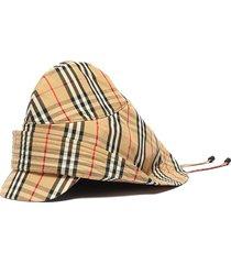 vintage check rain hat