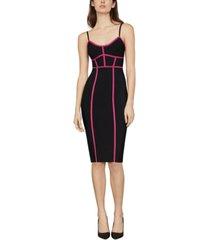 bcbgmaxazria sleeveless contrast fitted dress