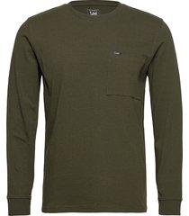 ls pocket tee t-shirts long-sleeved grön lee jeans
