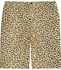 gucci leopard jacquard shorts - neutrals