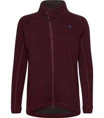 balder zip w's sweat-shirts & hoodies fleeces & midlayers röd klättermusen