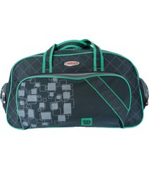 bolsa esportiva wilson wtis13779c preto/verde