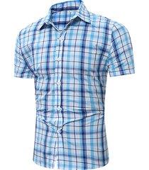 manica corta da uomo casual a manica corta, modello all match, camicia