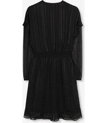 alix 195339313 ladies woven lurex stripe dress zwart