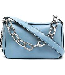 karl lagerfeld k/letters light blue shoulder bag