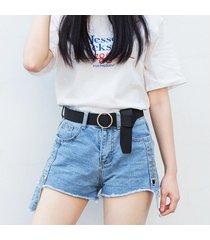 cinturón para mujer/estilo accesorio/ cinturón fino-negro