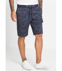 cargo bermuda met geribde band, loose fit