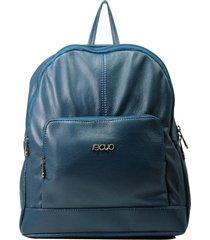 mochila de couro recuo fashion bag verde oceano