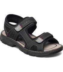 26156-02 shoes summer shoes sandals svart rieker