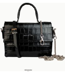 aurora crocodile top handle bag