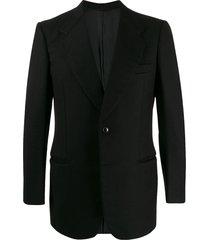 a.n.g.e.l.o. vintage cult 1970s textured dinner jacket - black