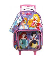 kit escolar princesas mochila + lancheira + estojo