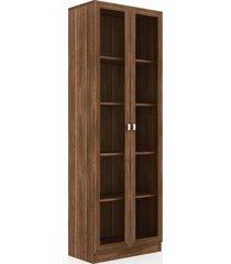 armário com porta de vidro me4115 nogal videira