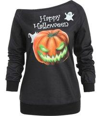 hallowmas one shoulder sweatshirt