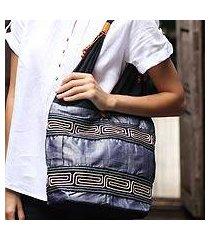 cotton shoulder bag, 'music' (thailand)