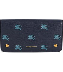 rowe logo graphic pebbled leather card holder