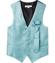 pronto uomo teal classic fit vest set