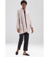 aura cardigan top, women's, grey, size l, n natori