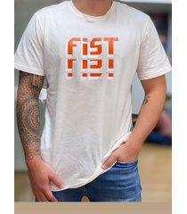 camiseta fist collection tetris beige