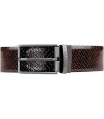 cinturón reversible cuero genuino ajax negro miura