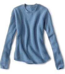 donegal crew textured-stitch sweater