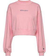 crewneck croptop sweat-shirt tröja rosa champion