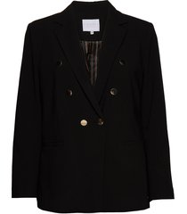 suit jacket w. double breasted clos blazer kavaj svart coster copenhagen