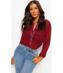 dobby chiffon blouse, berry