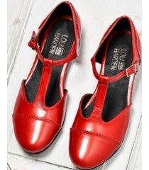 sandalia  roja loli van harden paulette