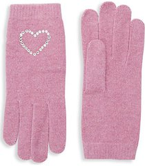 crystal-embellished gloves