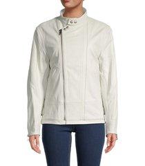 zadig & voltaire women's lapo moto leather jacket - judo - size 36 (s)
