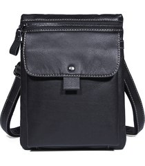 vera pelle business casual shoulder crossbody borsa per uomo