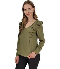 blusa juana verde jacinta tienda