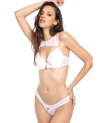 conjunto blanco playboy angel kiss plus size